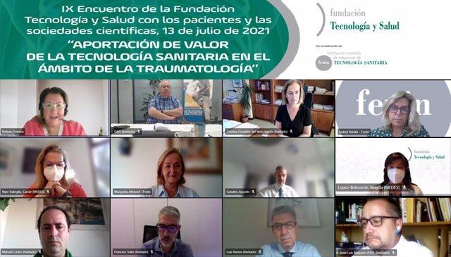 """IX Encuentro de la Fundación Tecnología y Salud con Pacientes y Sociedades Científicas: """"Aportación de valor de la Tecnología Sanitaria en el ámbito de la Traumatología"""""""