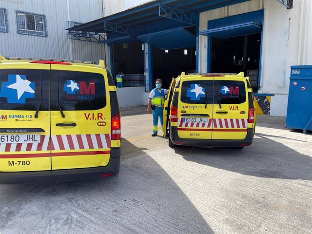 Ambulancias del Summa-112 en Coslada