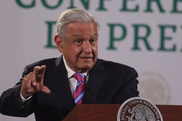 08 July 2021, Mexico, Mexico City: Mexican President Andres Manuel Lopez Obrador speaks during his daily press conference at the National Palace. Photo: -/El Universal via ZUMA Wire/dpa