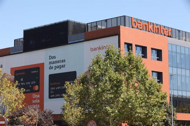 Archivo - Fachada de la empresa Bankinter ubicada en Madrid, (España).