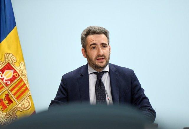 El ministro de Finanzas y Portavoz, Eric Jover