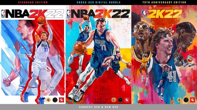 Luka Doncic, Kareem Abdul-Jabbar, Dirk Nowitzki y Kevin Durant protagonizan las portadas de NBA 2K22