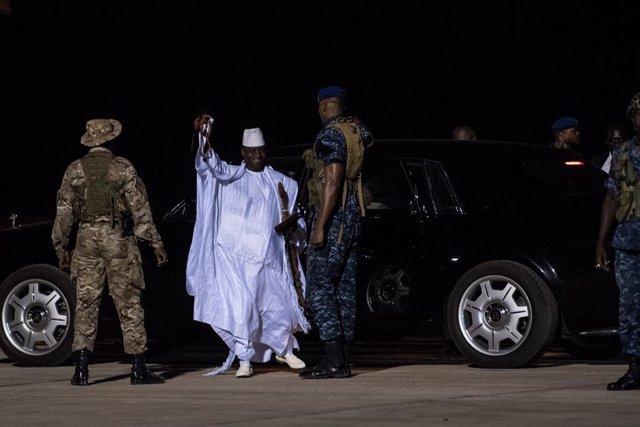 Archivo - El expresidente de Gambia Yahya Jammé