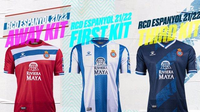 Nuevas equipaciones del RCD Espanyol para la temporada 2021/22, de regreso a LaLiga Santander