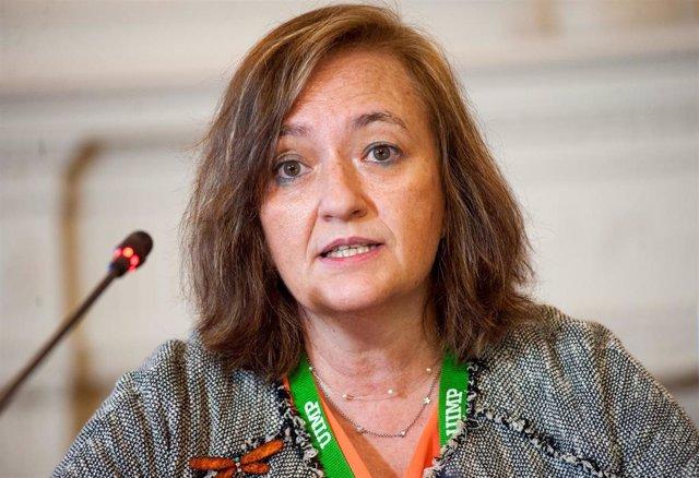 La presidenta de la Autoridad Independiente de Responsabilidad Fiscal (AIReF), Cristina Herrero, en el seminario 'La economía de la pandemia' organizado por APIE y BBVA en la Universidad Internacional Menéndez Pelayo (UIMP) de Santander.