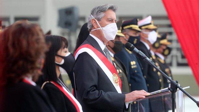 Archivo - El presidente de Perú, Francisco Sagasti.