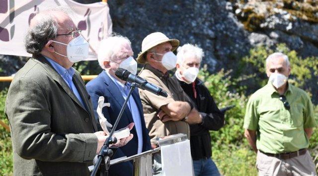 El expresidente de la Junta Juan Vicente Herrera recibe un reconocimiento de la Fundación Atapuerca.
