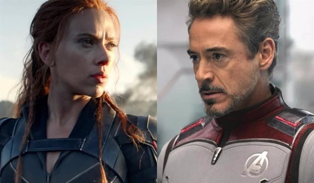 Así era el final original de Viuda Negra con Iron Man (Robert Downey Jr)