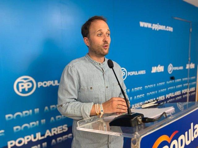 El presidente provincial del PP de Jaén, Erik Domínguez.