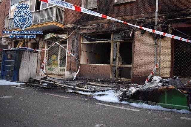 Incendio en Palencia por el que ya se ha detenido a uno de los presuntos autores.