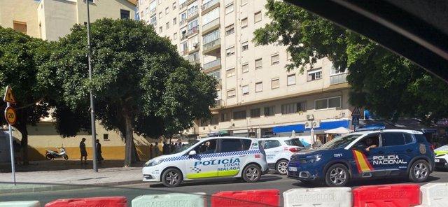 Calle donde se ha producido el asesinato a una mujer en Málaga