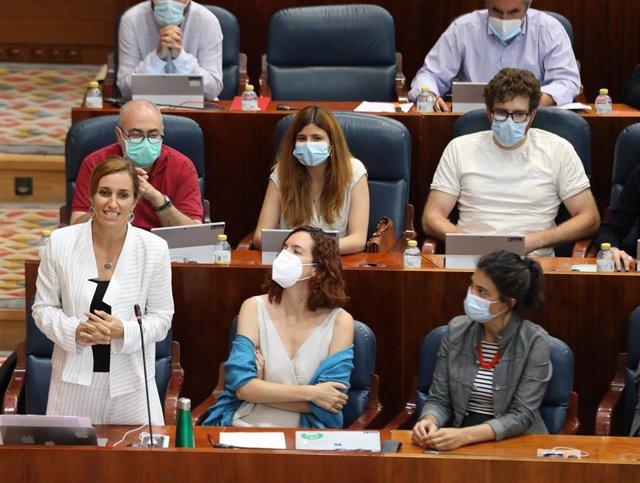 La portavoz de Más Madrid en la Comunidad y líder de la oposición,Mónica García
