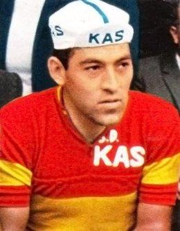 El fallecido ciclista Antonio Gómez del Moral, con el maillot de campeón de España