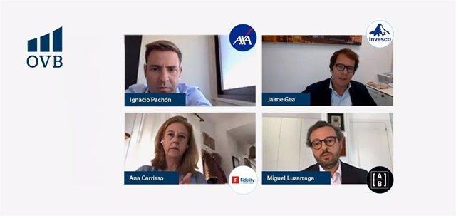 Los ponentes de las gestoras de fondos en la mesa redonda de OVB