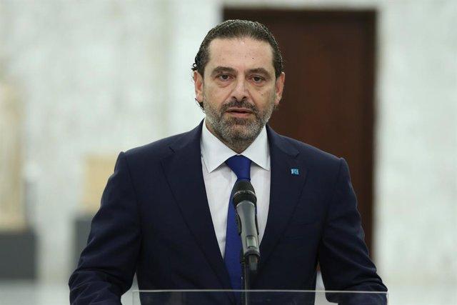 El primer ministro designado de Líbano, Saad Hariri