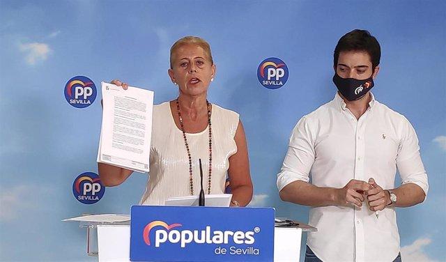 Lola Romero, en rueda de prensa