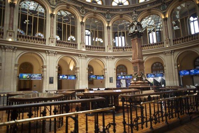 Interior del Palacio de la Bolsa, a 9 de julio de 2021, en Madrid, (España).