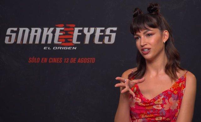 """Úrsula Corberó es la Baronesa en 'Snake Eyes, el origen': """"Es inspirador ver mujeres poderosas en ficción"""""""