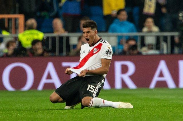 Archivo - River Plate celebra en la Copa Libertadores