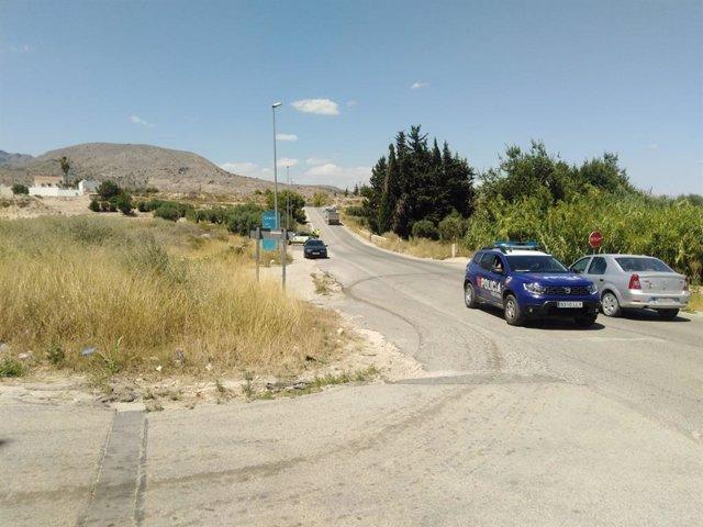 Imágenes del lugar del accidente facilitadas por Protección Civil de Fortuna