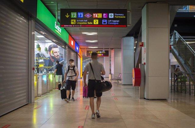 Aeropuerto Adolfo-Suárez Madrid Barajas, a 9 de julio de 2021, en Madrid