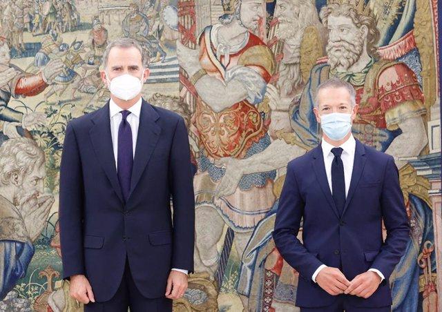 El presidente del Senado, Ander Gil García, ha sido recibido por el Jefe del Estado, Felipe VI, este jueves con motivo de su nombramiento el pasado lunes como nuevo presidente del Senado.