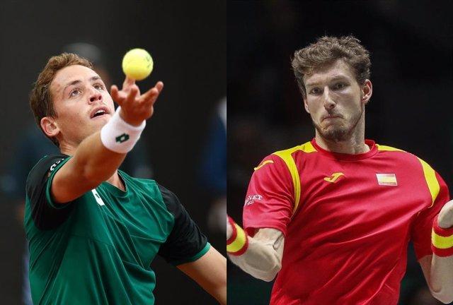 Los tenistas españoles Roberto Carballés y Pablo Carreño
