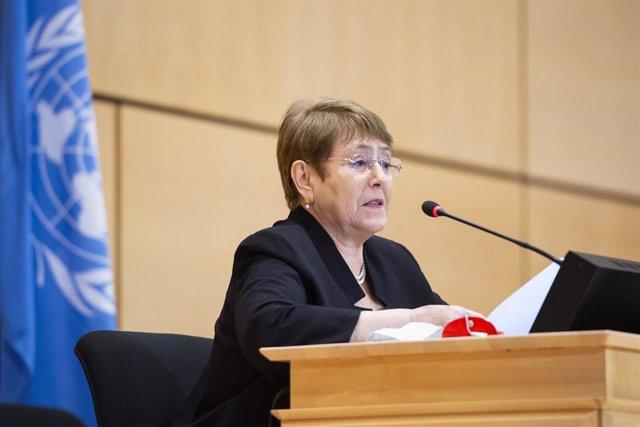 Archivo - La Alta Comisionada de la ONU para los Derechos Humanos, Michelle Bachelet.
