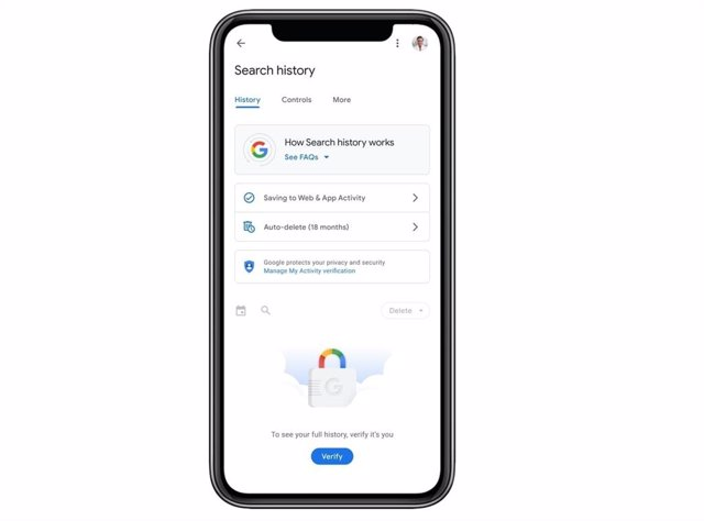 Protección con contraseña del historial de búsqueda en las cuentas de Google.