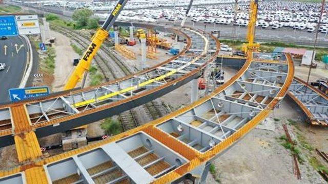 Obras del nuevo acceso al Puerto de Santander desde la A-67.