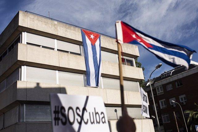 Imagen de la Embajada de Cuba en Madrid a 13 de julio de 2021, en Madrid (España).