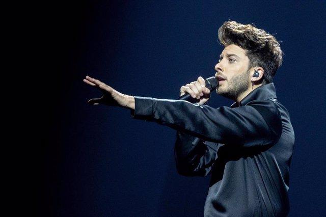 Archivo - Actuación de Blas Cantó en Eurovisión 2021