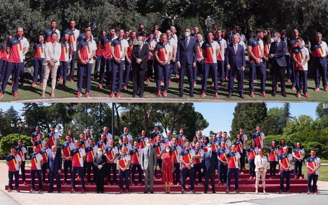 Pedro Sánchez y los Reyes reciben a los deportistas olímpicos