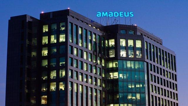 Archivo - Sede de Amadeus en Madrid.