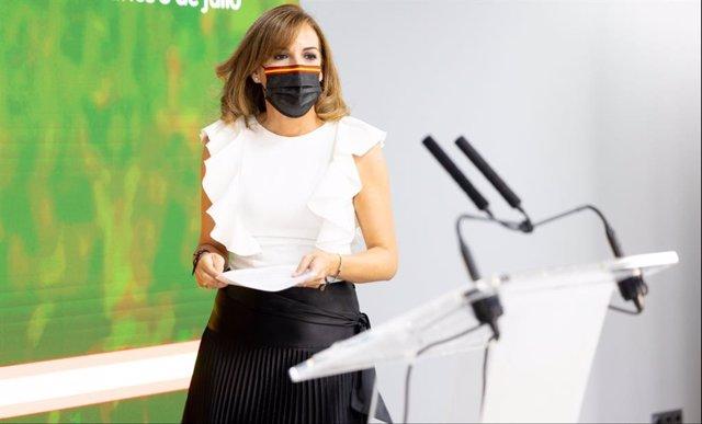 La diputada de Vox por Málaga, Patricia Rueda.