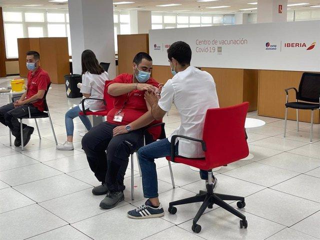 Instalaciones de vacunación de La Muñoza de Iberia