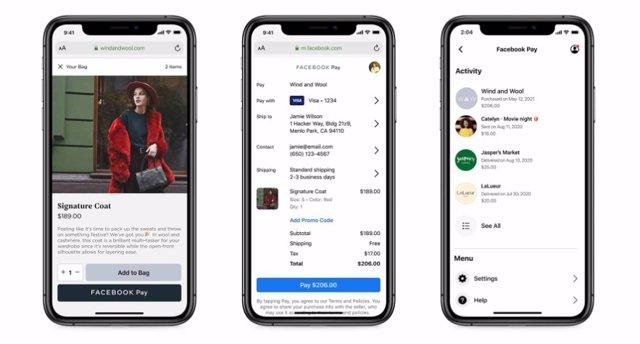 Facebook Pay en tiendas