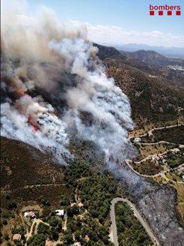Incendi forestal a Llançà (Girona) el 16 de juliol de 2021