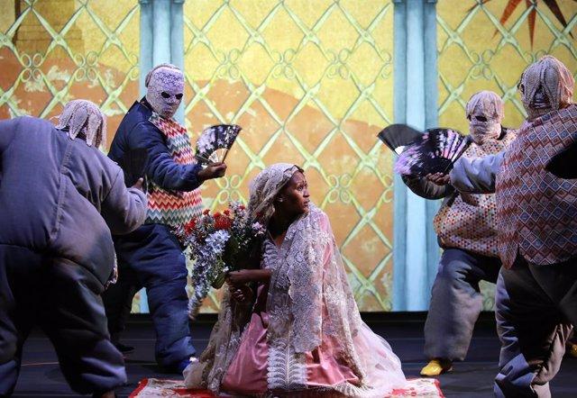 Archivo - Arxiu - Fotografia de l'obra de teatre 'Samsó', de Brett Bailey.