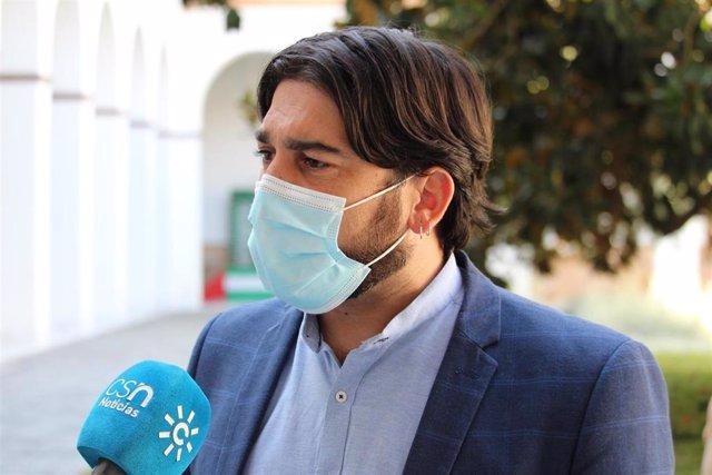 El diputado de Unidas Podemos por Andalucía, Ismael Sánchez.