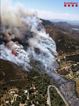L'Incendi forestal a Llançà (Girona)