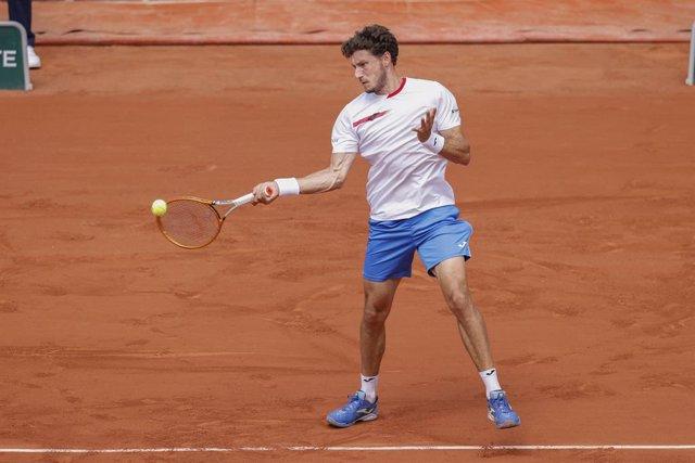 Archivo - Pablo Carreno Busta of Spain during the Roland-Garros 2021, Grand Slam tennis tournament on June 6, 2021 at Roland-Garros stadium in Paris, France - Photo Nicol Knightman / DPPI