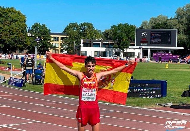 Paul McGrath, campeón de Europa Sub-20 de 10.000 metros marcha