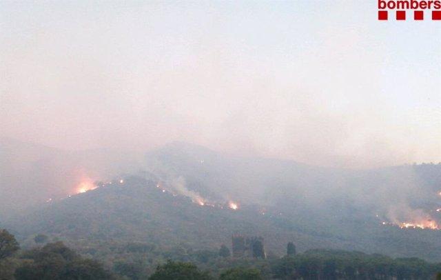 Incendi a Llançà (Girona)