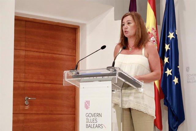 Archivo - La presidenta del Govern, Francina Armengol, en el Consolat de Mar. Archivo.