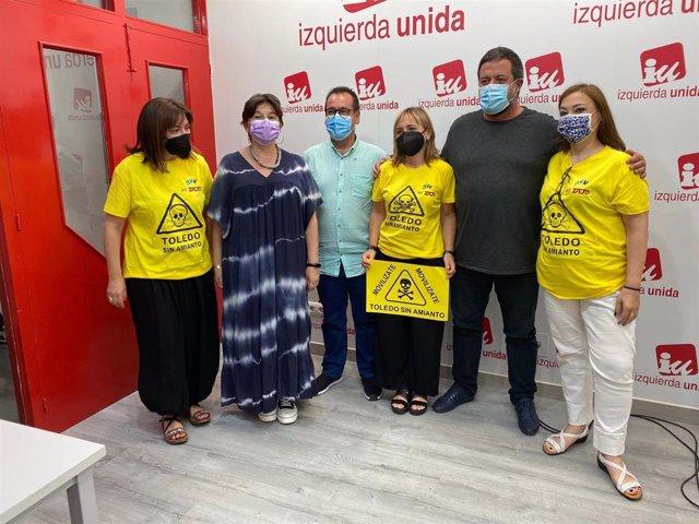 IU se compromete a llevar el problema del amianto en Toledo a la Comisión Europea y pide soluciones a administraciones