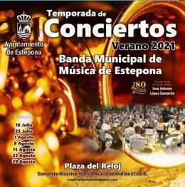 Concierto de verano de la banda municipal de música de Estepona