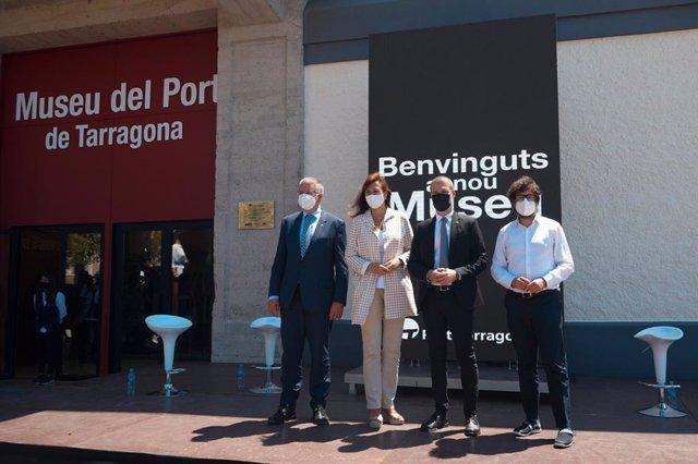 Inauguració del nou Museu del Port de Tarragona després d'una reforma integral. El 17 de juliol de 2021.