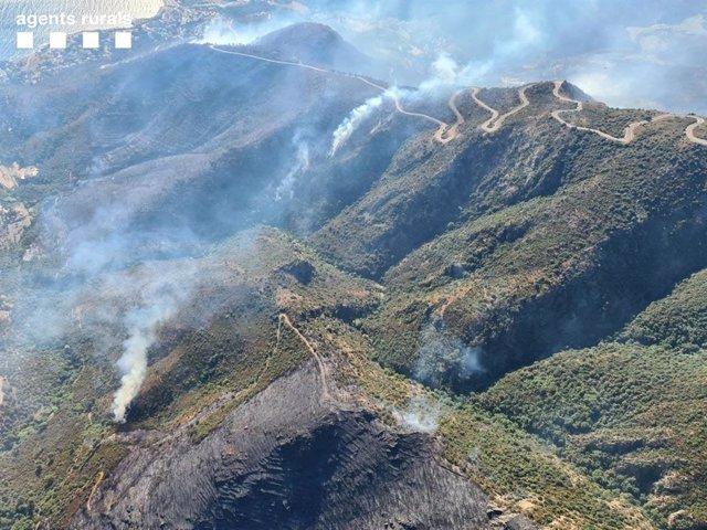 Incendi forestal a Llançà (Girona), el 17 de juliol de 2021.