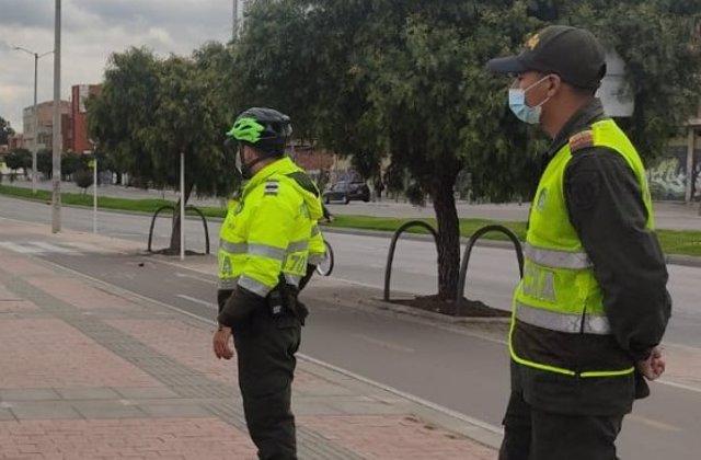 Agentes de la Policía Metropolitana de Bogotá